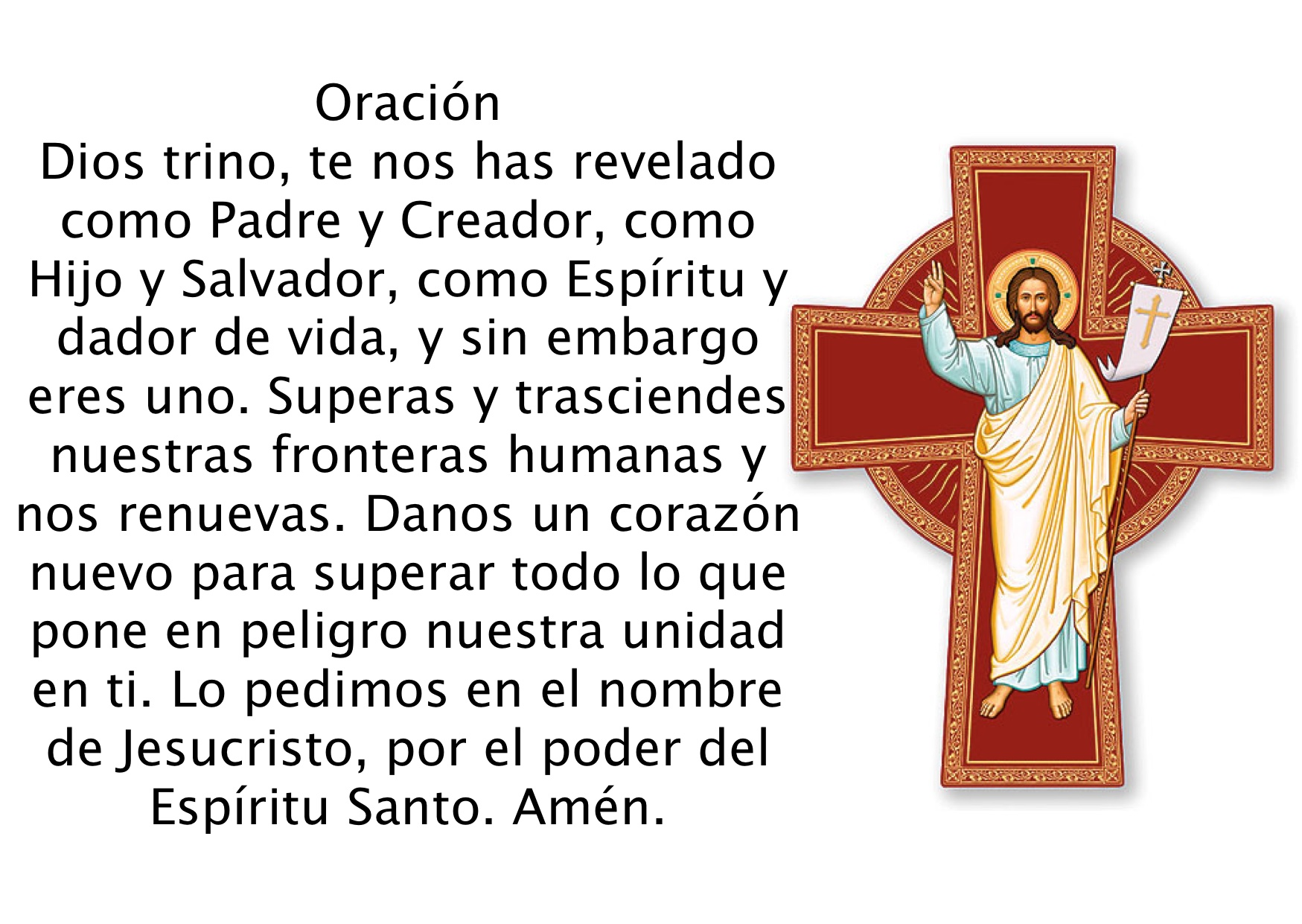 Resultado de imagen de oracion por la unidad de los cristianos